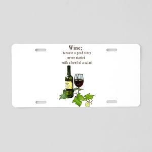 Wine Story Aluminum License Plate