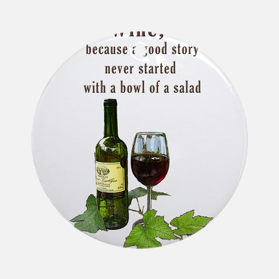 Wine Story Ornament (Round)