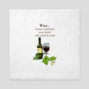 Wine Story Queen Duvet