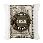 Chicago-20 Woven Throw Pillow