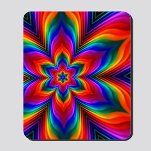 Rainbow Flower Fractal Mousepad