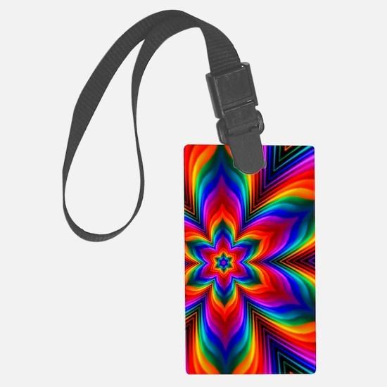 Rainbow Flower Fractal Luggage Tag