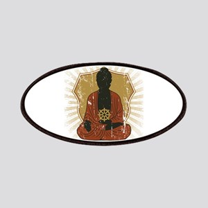 Buddha Meditating With Dharma Wheel Patches