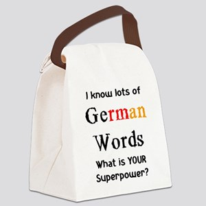 german words Canvas Lunch Bag