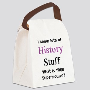 history stuf Canvas Lunch Bag