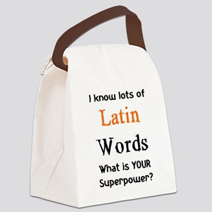 latin words Canvas Lunch Bag