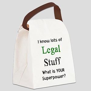 legal stuff Canvas Lunch Bag