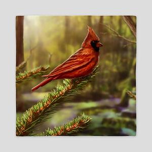 cardinal bird Queen Duvet