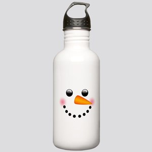Snowman Face Water Bottle
