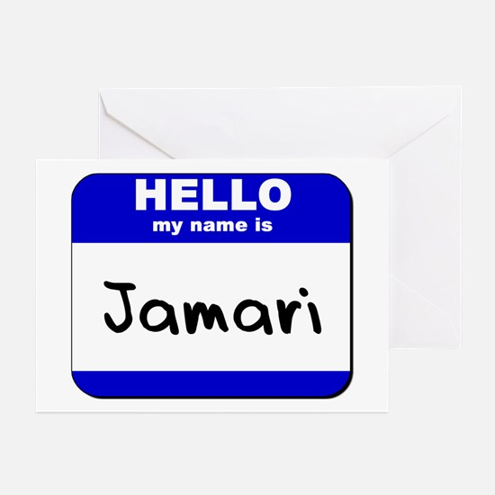 hello my name is jamari  Greeting Cards (Package o