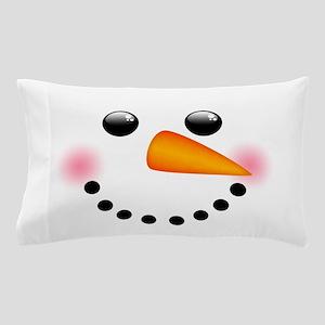 Snowman Face Pillow Case