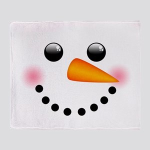 Snowman Face Throw Blanket