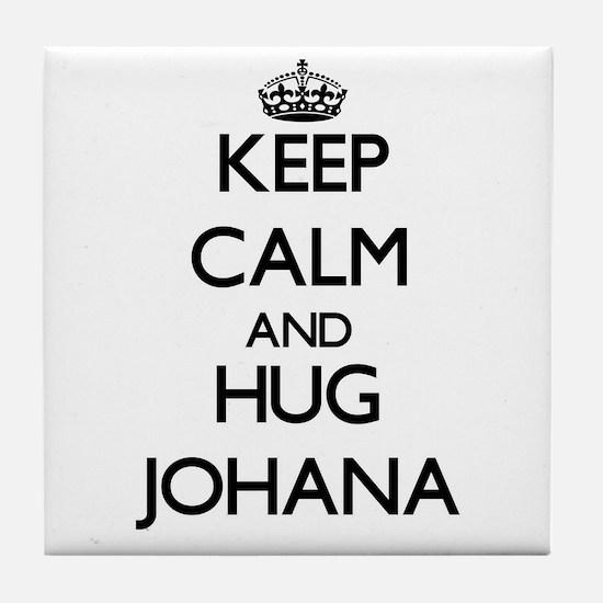 Keep Calm and HUG Johana Tile Coaster