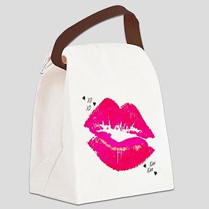 LIP PRINT Canvas Lunch Bag