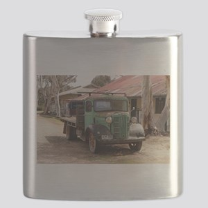 Old green truck Flask