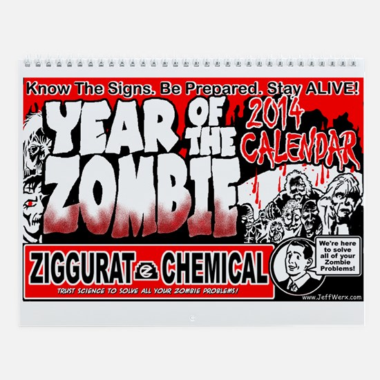 Year Of The Zombie Wall Calendar