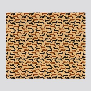 Dachshund Gold Throw Blanket