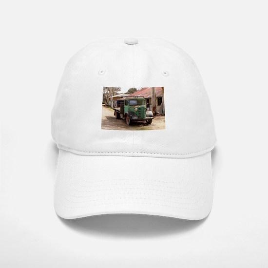 Old green truck Baseball Baseball Cap