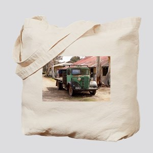 Old green truck Tote Bag