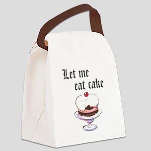 LET ME EAT CAKE Canvas Lunch Bag