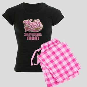 Shepadoodle Dog Mom Women's Dark Pajamas