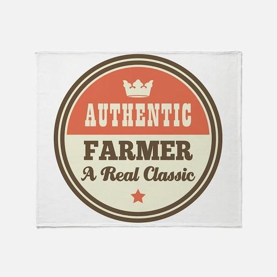 Farmer Vintage Throw Blanket