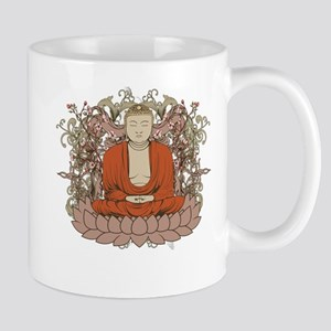 Buddha on Lotus Flower Mug