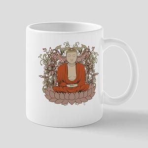 Buddha on Lotus Flower Mug