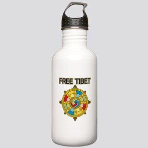 Free Tibet Wheel Stainless Water Bottle 1.0L