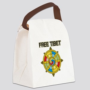 Free Tibet Wheel Canvas Lunch Bag