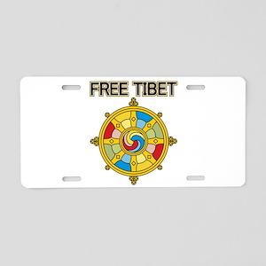 Free Tibet Wheel Aluminum License Plate