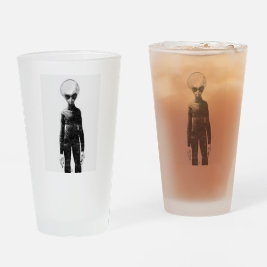 Skinny Bob Grey Alien Drinking Glass