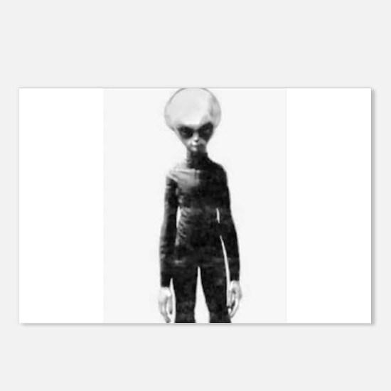 Skinny Bob Grey Alien Postcards (Package of 8)