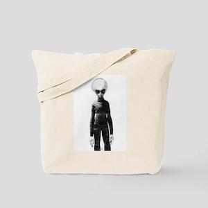 Skinny Bob Grey Alien Tote Bag