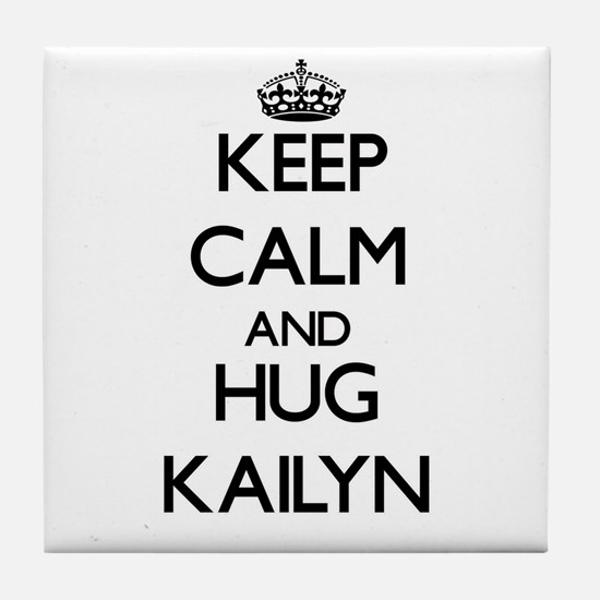 Keep Calm and HUG Kailyn Tile Coaster