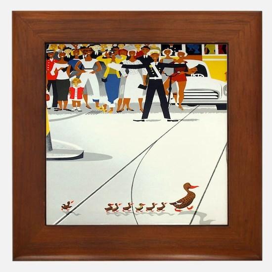 Copenhagen Ducks, Vintage Poster Framed Tile