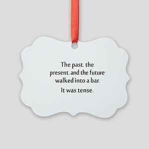 Grammar Joke Picture Ornament