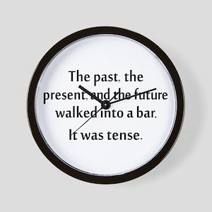 Grammar Joke Wall Clock