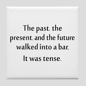 Grammar Joke Tile Coaster