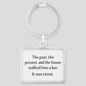 Grammar Joke Landscape Keychain