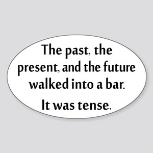 Grammar Joke Sticker (Oval)