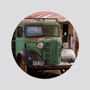 """Old green truck 3.5"""" Button"""