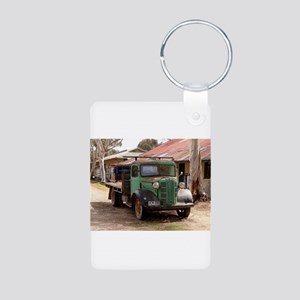 Old green truck Keychains