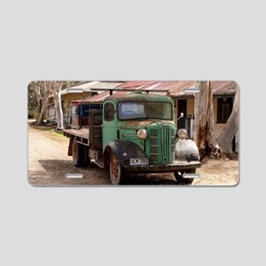 Old green truck Aluminum License Plate