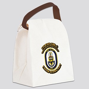 USS Wasp (LHD-1) With text Canvas Lunch Bag
