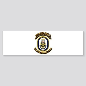 USS Wasp (LHD-1) With text Sticker (Bumper)