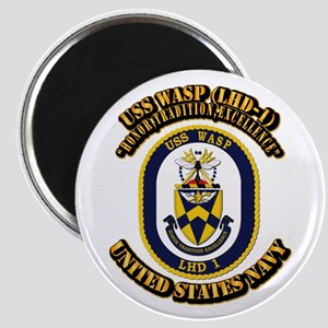 USS Wasp (LHD-1) With text Magnet