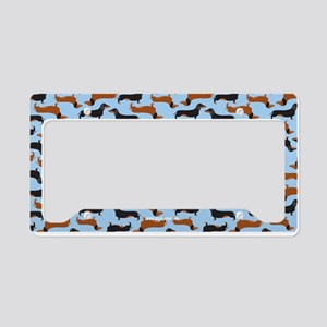 Dachshund Carolina Blue License Plate Holder