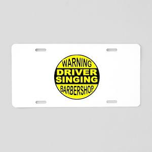 BARBERSHOP CIRCLE Aluminum License Plate