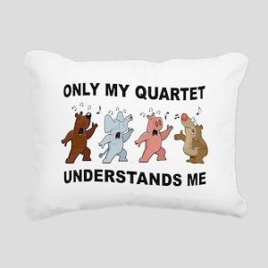 ANIMAL QUARTET Rectangular Canvas Pillow